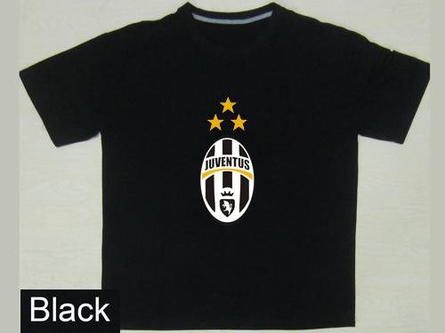 Juve Juventus Soccer Sports Custom t Shirt 100% Cotton Free Shipping Printing Men Short Sleeve O-NecK Blue DIY Football T-Shirt(China (Mainland))