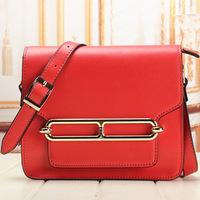 Quality fashion genuine leather women's one shoulder cross-body handbag vintage bag cowhide women's handbag Free shipping A078