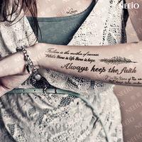 Temporary Tattoos luxury version tattoo stickers waterproof