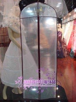 Wedding dress dust cover formal dress plastic dust cover wedding set