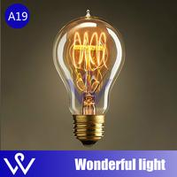 free shipping 1pcs A19 light bulbs vintage cord pendant lamp E27 edison bulb for restaurant club bars