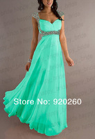 2013 New Long Chiffon Strap  Formal Party  Prom Dress