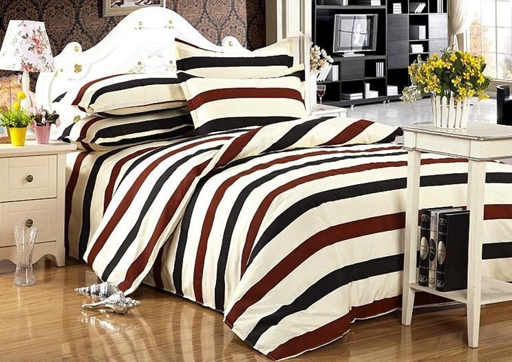 100% algodão barato folhas tarja / cama cover set / têxtil lar, capa dupla colcha de cama, colcha barato(China (Mainland))