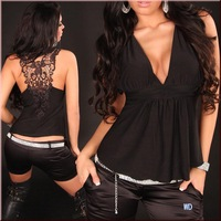 Black Women's Sexy t-shirt Hot underware Black Spicy underware for ladies