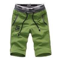 Shorts male knee-length pants beach pants casual shorts knitted shorts sports pants elastic pants large