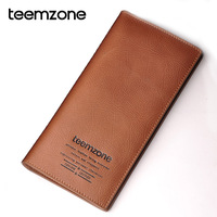Lovers gift teemzone lovers wallet women's long zipper design cowhide card holder genuine leather