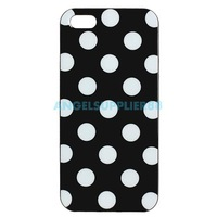 Classic TPU Back Case Cover Protector for Apple iPhone 5 Polka Dots A#S0