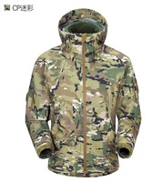 Windbreaker tactical jacket,Mulitcam camouflage +Free shipping