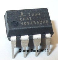 Free shipping 20pcs   ICL7660SCPAZ ICL7660  DIP-8 Super Voltage Converter IC