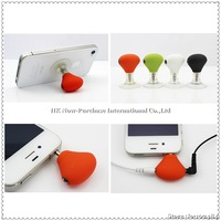 Mobile Phone Stand Holder Earphone Splitter Adapter For iPhone 5 For Samsung Galaxy S4 For HTC One Drop Shipping