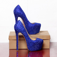 Brand design crystal high heel shoes wedding shoes platform pumps rhinestone woman red sole 14/16cm high heels