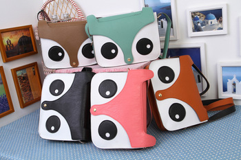 2013 New Womens Ladies Retro Shoulder Bag Fashion Handbags Cute School Tote Owl Fox PU Women Bags Free Shipping