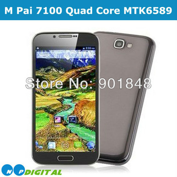 Original M Pai N7100 Quad core  MTK6589 Android 4.2 phone 5.5'' QHD Screen 4GB 3G WCDMA Dual Camera 8MP Cell phone