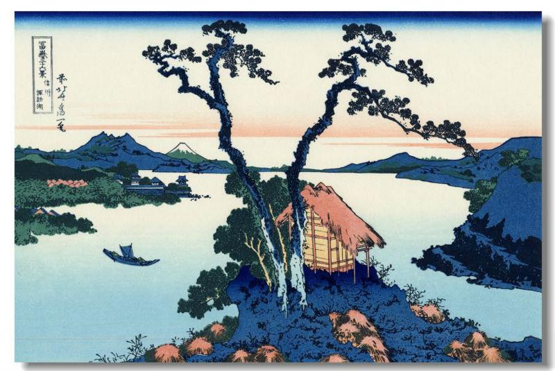 Hokusai Wave Poster Hokusai Silk Wall Poster