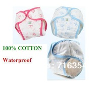 Baby diaper 100% cotton breathable leak-proof pocket diapers diaper pants cloth diaper urine pants