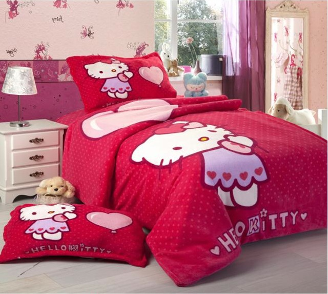 Hello Kitty King Size Bedding Purple Hello Kitty Duvet Cover ...