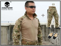 Emerson bdu Men  G3 Combat uniform shirt + Pants + knee pads Military Army uniform MultiCam shirt