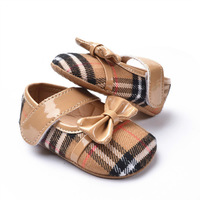 Fashion plaid baby girls shoes prewalker infant shoes hotsale Free shipping