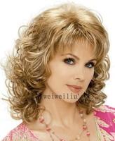 2013 Classic hair, Blonde Fashion hair,Lady wig,Medium length,,High-quality,Free shipping