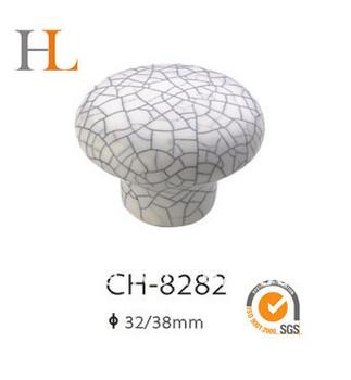 12pcs crackled ceramic furniture handle for dresser and drawer