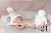Hot Sale 2014 Photo Prop Knit Crochet Toddler Baby Kids Costume White Rabbit Hat Cap  Free Shipping