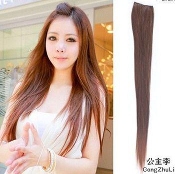 Straight hair piece hair piece hair piece 7 color emulation (straight).