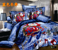 Four cotton twill cotton bedding suite princess of Santa Claus-41