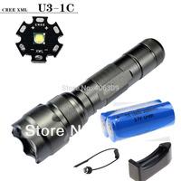 UltraFire 502b Cree XM-L U3 5 Modes Led Flashlight + UltraFire 4000mAh 18650 Battery + a Charger +remote switch Free shipping