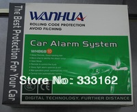 Free Shipping TOP! WH868-10 one-way car alarm system /CE,FCC approved, 2pcs metal durable remote controller, long range,