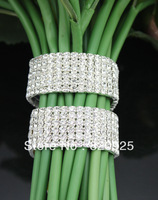 Rhinestone Bouquet Bracelet for Wedding Flower Stem WB5