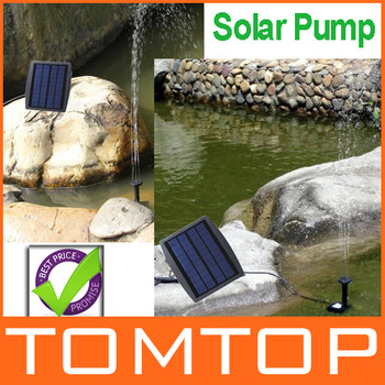 High Quality Solar Power Water Pump Decorative Fountain for Garden Pond Pool Water Cycle 7.2V ,Freeshipping wholesale