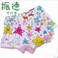Wholesale kids underwear,Modal girls underwear bamboo fiber Five stars Print Boxers pants Free Shipping