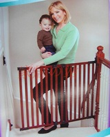 Solid wood stair child fence baby gate window fence pet fence safety fence