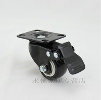 "WITH BRAKE 2"" Chair PARTS Double Bearing Polyurethane  CASTERS WHEELS  5pcs SET Perfect for Sofa/Furniture/Office Desk"
