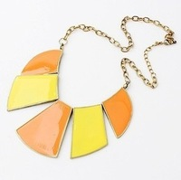 Min order is $10 (mix order) .Hitting scene geometry necklace han edition color fan fashion necklaces wholesale