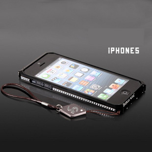 High Quality Metal Cell Phone Case with Lanyard for iphone 5 Free Shipping