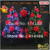 2014 free shipping 180cm PVC festival & party artificial decorations  Xmas tree big flower christmas trees