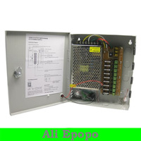 9CH Total Outputs DC 12V 5A CCTV Power Supply CCTV Box For CCTV Security Camera, FREE SHIPING
