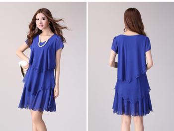 Plus size chiffon one-piece dress mm chiffon cake one-piece dress xxxl plus size chiffon one-piece dress