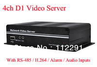 4CH Real time IP Video server H.264 with Audio