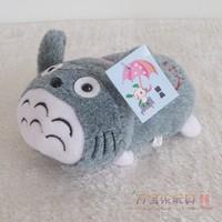 Totoro cell phone holder cartoon plush toy doll birthday gift grey