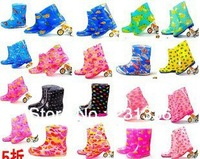 New  Fashion PVC Children rain boots with Crystal fashion boots antiskid fashion shoes size 26~37 Free shipping