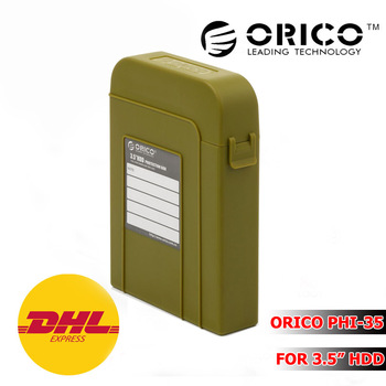 "ORICO PHI-35 Plastic  3.5"" IDE SATA HDD Protector Hard Drive Disk Protective Case HDD Enclosure With Label Design (Green)"
