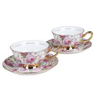 Bone china coffee cup set quality fashion brief coffee cup business gift set spoon