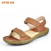 Ztto genuine handmade leather sandals summer sandals Men male cow muscle outsole comfortable