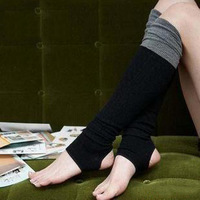 Free Shipping Twisted Knee Mixed Colors Stepping Foot Socks Leg Warmer NWW035