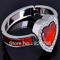 freeshipping 100pcs/lot Fashion Luxuriant Diamond Ring Design Folding Bag Hanger/HandBag Hanger/Purse Hanger wedding favor
