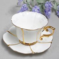 Coffee cup bone china fashion black tea cup small fresh princess cqua ceramic cup