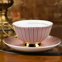 Fashion bone china coffee cup set pinkish purple coffee cup lovers mug gift
