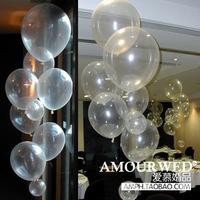 Free Shipping 12 transparent latex balloon magic props ball ball set ball marriage decoration balloon